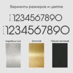 Образцы материалов для цифр solo