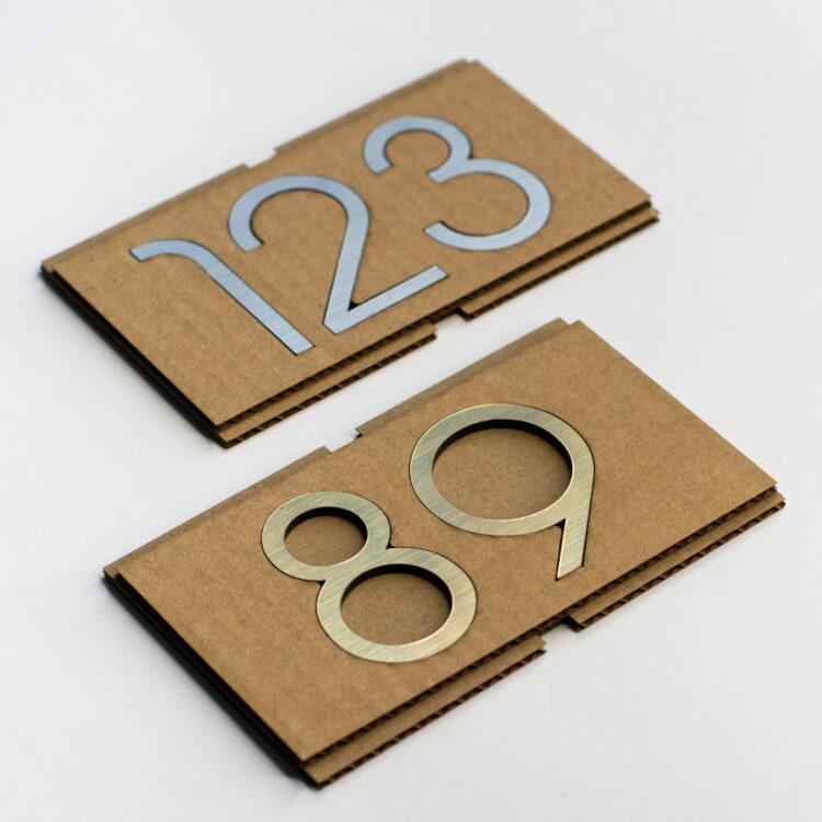 Шаблон для установки цифр на дверь
